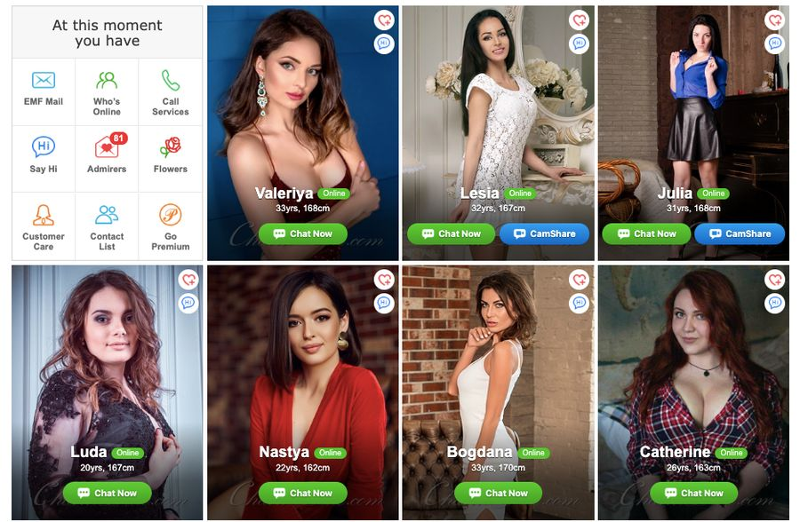 Girls profiles at KissRussianBeauty